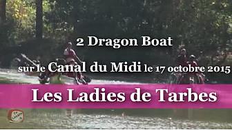 2 Dragon Boat des Ladies Tarbes sur le Canal du Midi le 17 octobre 2015 #TvLocale_fr #dragonboat